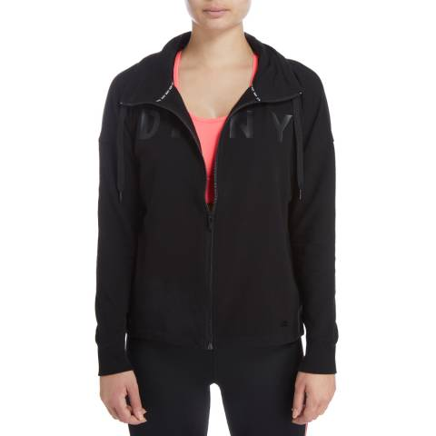 DKNY Black Zip Sweatshirt