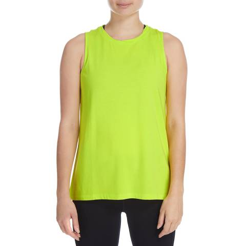 DKNY Nylon Green High Low Logo Tank