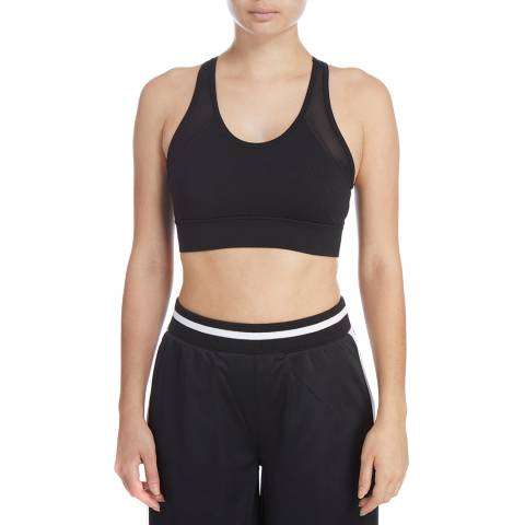 DKNY Black Mesh V-Neck Bra
