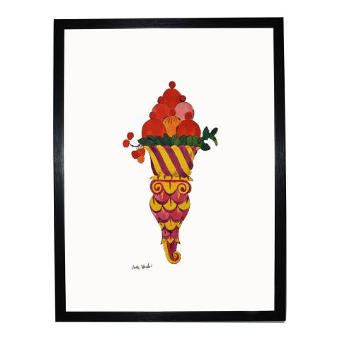 Paragon Prints Fancy Red Ice Cream Dessert, Andy Warhol c.1959, Framed Perspex Print 35.6x28cm
