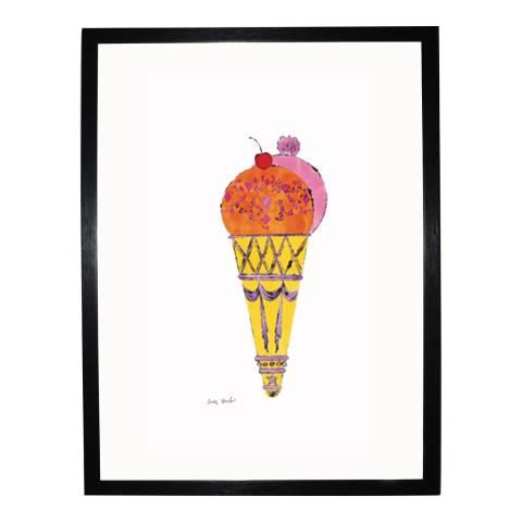 Paragon Prints Red & Pink Ice Cream Dessert, Andy Warhol c.1959, Framed Perspex Print 35.6x28cm