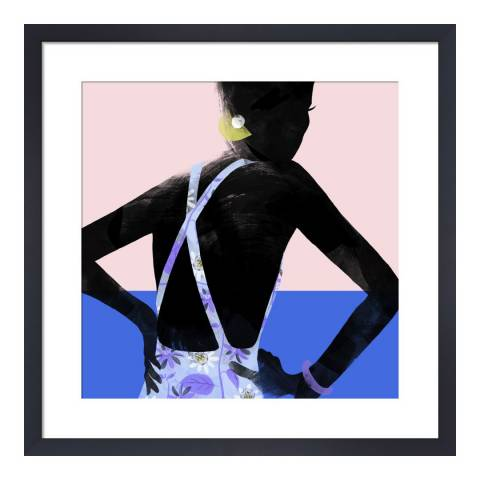 Paragon Prints Jemima at the Pool, Babeth Lafon, Framed Perspex Print 33x33cm