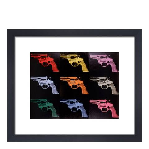 Andy Warhol Gun c.1982 (Many/Rainbow) 36x28cm