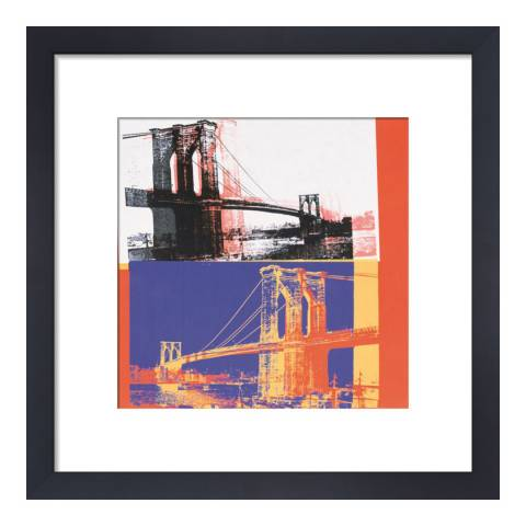 Paragon Prints Brooklyn Bridge, Andy Warhol 1983, Framed Print 33x33cm