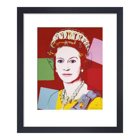 Paragon Prints Reigning Queens: Queen Elizabeth II of the United Kingdom, Andy Warhol 1985, Framed Perspex Print 36x28cm