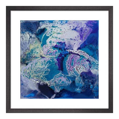 Paragon Prints Ultra Blue VI, Fintan Whelan, Framed Perspex Print 33x33cm