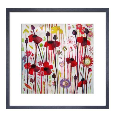 Paragon Prints June Poppy, Shyama Ruffell, Framed Perspex Print 33x33cm
