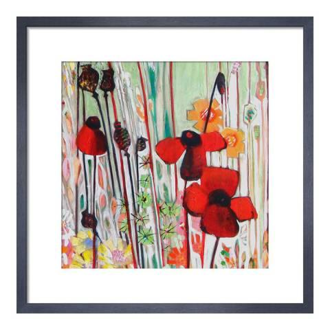 Paragon Prints Poppy Field, Shyama Ruffell, Framed Print 33x33cm