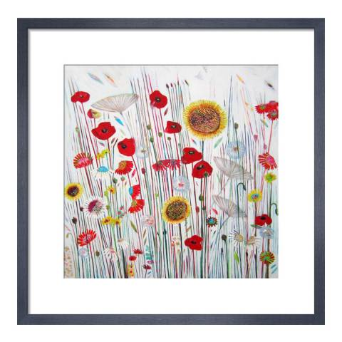 Paragon Prints Summer Party, Shyama Ruffell, Framed Perspex Print 33x33cm