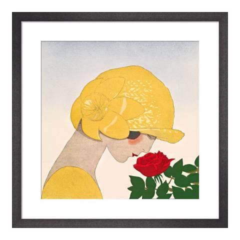 Paragon Prints Le parfum de la rose, Gazette du Bon Ton, Framed Perspex Print 33x33cm