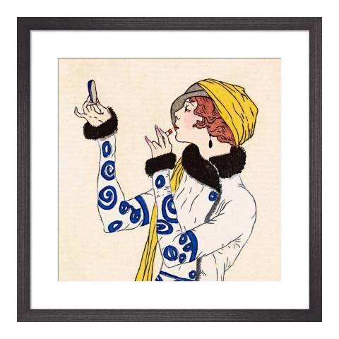 Paragon Prints Costumes Parisiens, Gazette du Bon Ton, Framed Perspex Print 33x33cm