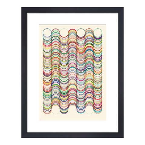 Paragon Prints Wavey, Simon C Page, Framed Perspex Print 35.6x28cm