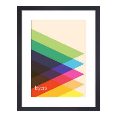Paragon Prints Layers, Simon C Page, Framed Perspex Print 35.6x28cm