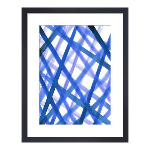 Amy Sia Criss Cross Blue, Amy Sia, 35.6x28cm