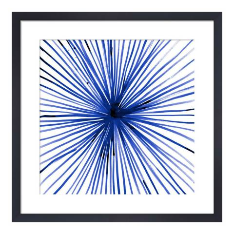 Paragon Prints Sunburst Blue, Amy Sia, Framed Perspex Print 33x33cm