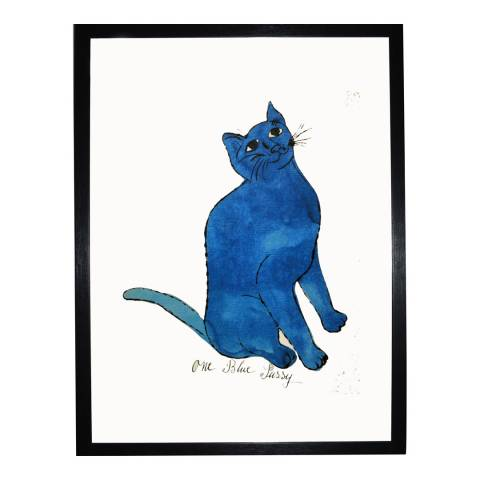 Paragon Prints One Blue Pussy, Andy Warhol c. 1954, Framed Print 35.6x28cm