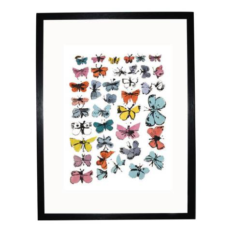 Paragon Prints Butterflies, Andy Warhol 1955, Framed Perspex Print 35.6x28cm