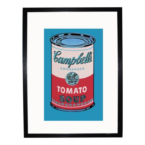 Paragon Prints Pink & Red Campbells Soup Can, Andy Warhol 1965, Framed Print 35.6x28cm
