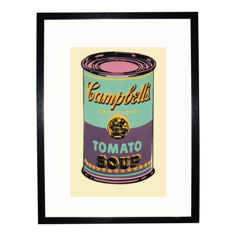 Paragon Prints Green & Purple Campbells Soup Can, Andy Warhol 1965, Framed Perspex Print 35.6x28cm