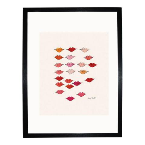 Paragon Prints Stamped Lips, Andy Warhol c. 1959, Framed Perspex Print 35.6x28cm