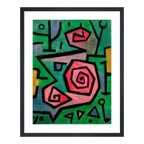 Paragon Prints Heroic Roses, Paul Klee 1938, Framed Print 50x40cm