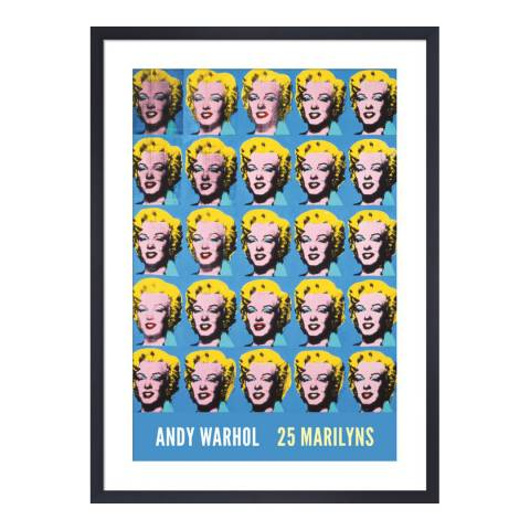 Andy Warhol Twenty-Five Colored Marilyns, 1962 65x45cm