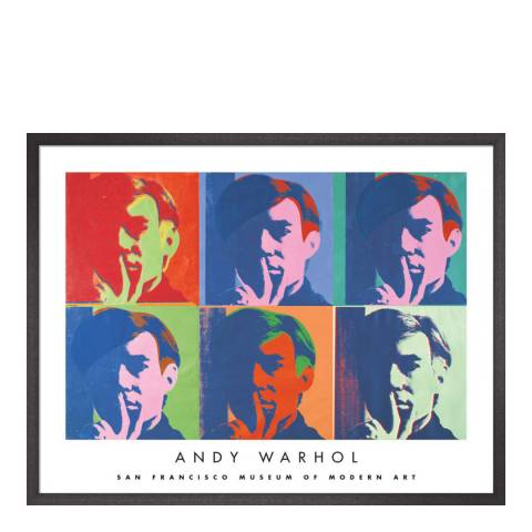 Paragon Prints A Set of Six Self-Portraits, Andy Warhol 1967, Framed Perspex Print 66x86cm