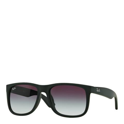 Ray-Ban Unisex Black Rubber Justin Sunglasses 55mm