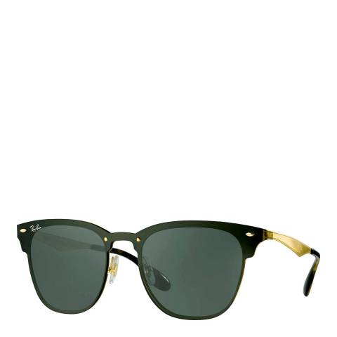 Ray-Ban Unisex Gold Blaze Clubmaster Sunglasses 141mm