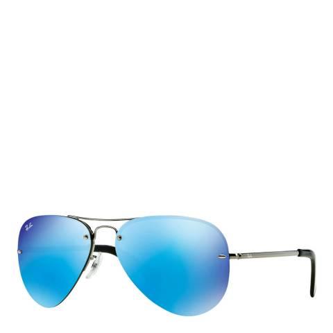 Ray-Ban Men's Gunmetal Pilot Sunglasses 59mm