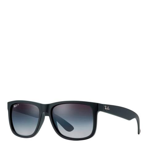 Ray-Ban Unisex Black Rubber Justin Sunglasses 55mm
