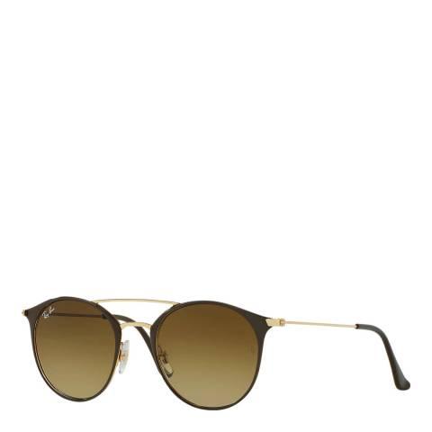 Ray-Ban Unisex Gold/Brown Double Bridge Sunglasses 52mm