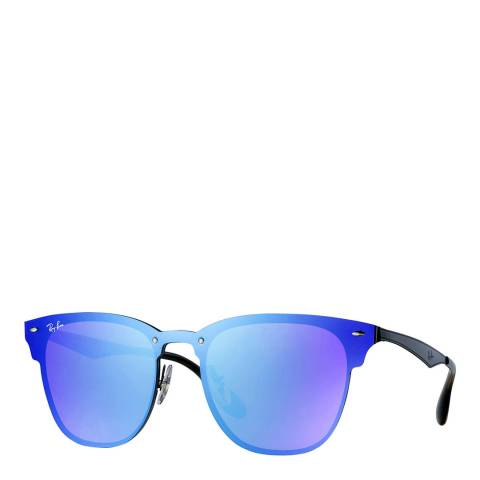 Ray-Ban Unisex Black Blaze Clubmaster 141mm