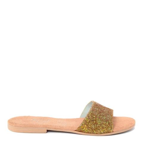 HH Made in Italy Gold Glitter Slide