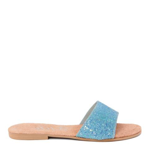 HH Made in Italy Blue Glitter Slide