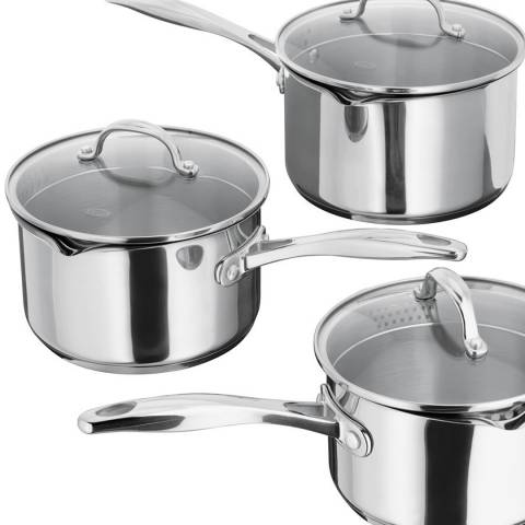 Stellar Set of 3 Draining Saucepans