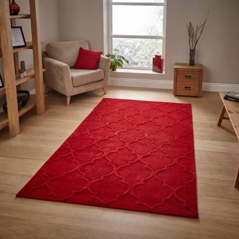 Think Rugs Red Hong Kong 8583 120x170cm Rug