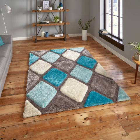 Think Rugs Grey/Blue Noble House 9247 120x170cm Rug