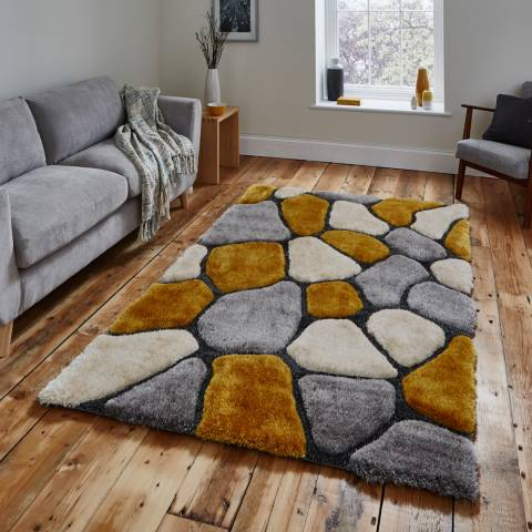 Think Rugs Grey/Yellow Noble House NH5858 120x170cm Rug