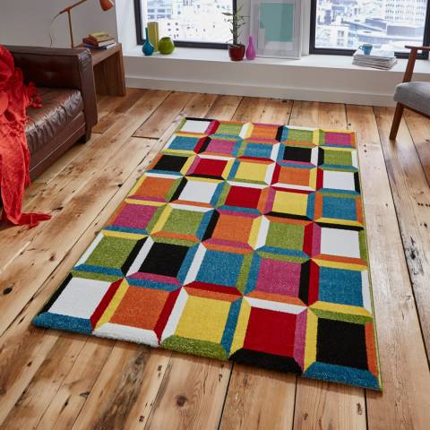 Think Rugs Multi Sunrise 120x170cm Rug