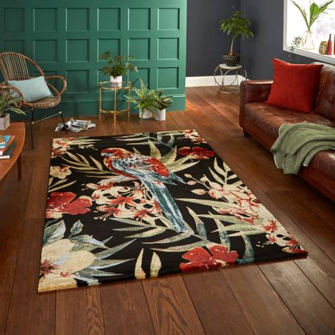 Think Rugs Black/Multi Tropics 6093 160x220cm Rug
