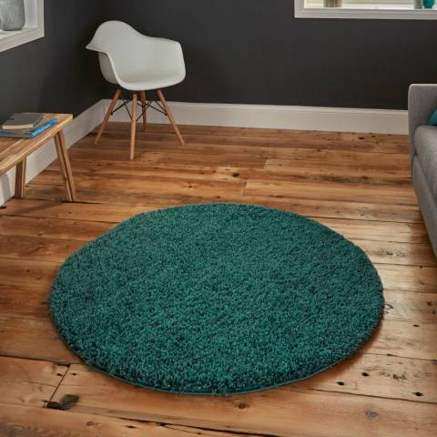 Think Rugs Bright Blue Vista 2236 Circle 133x133cm Rug