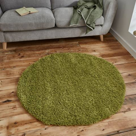 Think Rugs Green Vista 2236 Circle 133x133cm Rug