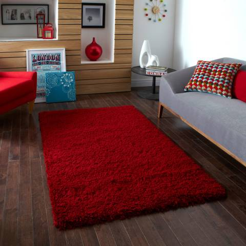 Think Rugs Red Vista 2236 160x220cm Rug