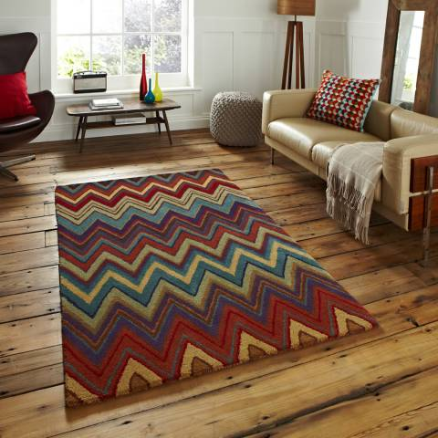 Think Rugs Multi Aztec 150x230cm Rug