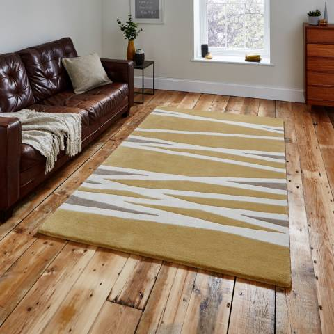Think Rugs Yellow Elements EL61 120x170cm Rug