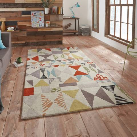 Think Rugs Multi Fiona Howard Harlequin FH02 150x230cm Rug