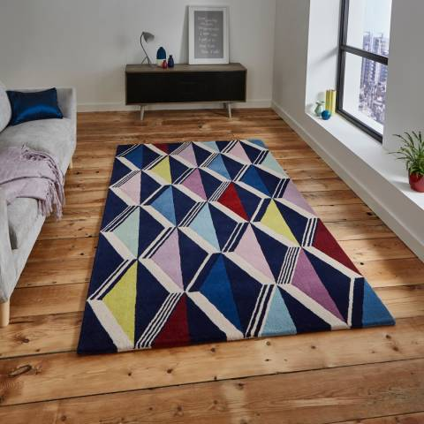 Think Rugs Multi Fiona Howard Zig Zag FH05 120x170cm Rug