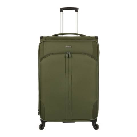 Antler Khaki Green Aire 4 Wheel Large Suitcase 80cm