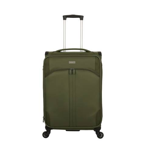 Antler Khaki Green Aire 4 Wheel Medium Suitcase 68cm